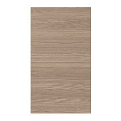 SOFIELUND door for corner wall cabinet, walnut effect light grey Width: 31.6 cm Height: 69.4 cm Thickness: 1.9 cm