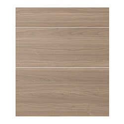 SOFIELUND drawer front, set of 3, walnut effect light grey Width: 40 cm Height: 70 cm