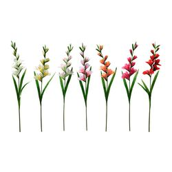 "SMYCKA artificial flower, assorted colors, Gladiolus Height: 39 ¼ "" Height: 100 cm"