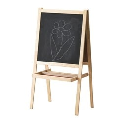 "MÅLA easel, softwood, white Length: 17 "" Width: 24 "" Height: 46 "" Length: 43 cm Width: 62 cm Height: 118 cm"