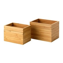 DRAGAN 2-piece bathroom dish set, bamboo
