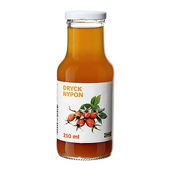 DRYCK NYPON rosehip drink Volume: 8.5 oz Volume: 250 ml