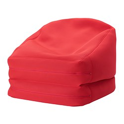 RISÖ beanbag, in/outdoor, red Length: 184 cm Width: 72 cm Height: 58 cm