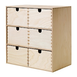 MOPPE mini chest of drawers, birch plywood Width: 31 cm Depth: 18 cm Height: 32 cm