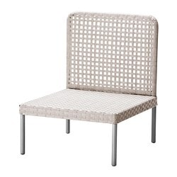 ENHOLMEN one-seat section, light grey Width: 63 cm Depth: 69 cm Height: 79 cm