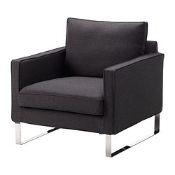 MELLBY armchair cover, Dansbo dark grey