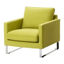 MELLBY armchair cover, Dansbo yellow-green