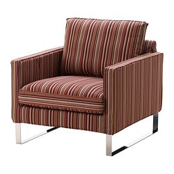 MELLBY armchair cover, Kulladal multicolour