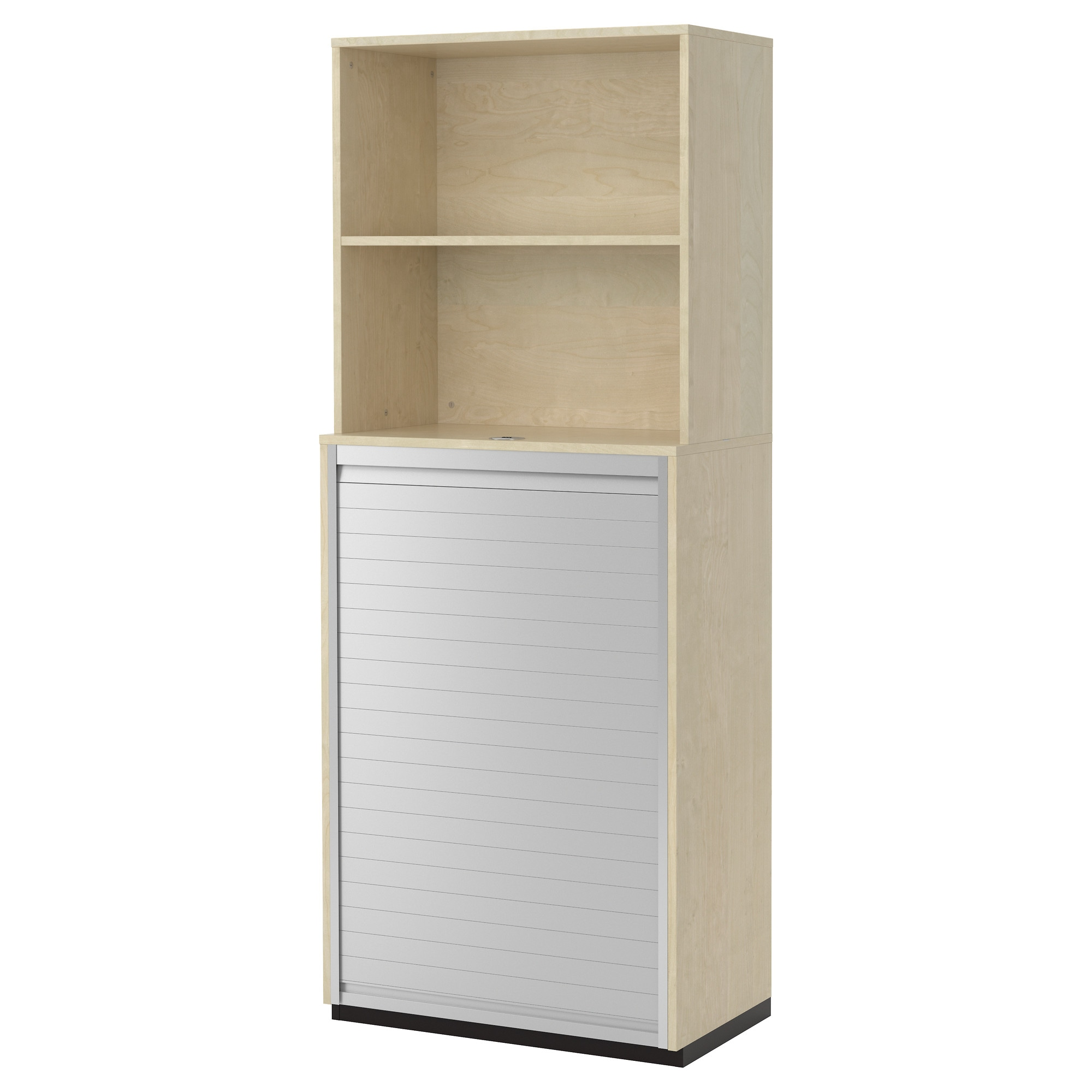galant storage combination with roll front birch veneer width 31 12 nice wall hanging office organizer 4