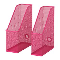 DOKUMENT magazine file set of 2, pink