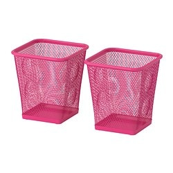DOKUMENT pen cup, pink Package quantity: 2 pack