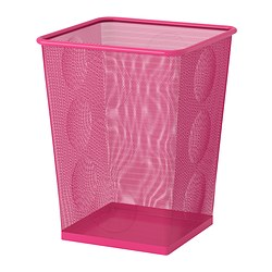 DOKUMENT wastepaper basket, pink