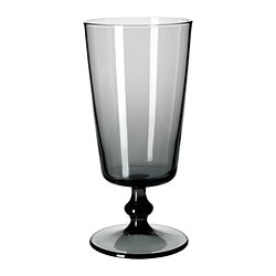 BEDÅRANDE beer glass with stem, grey Height: 19 cm Volume: 50 cl