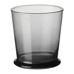 BEDÅRANDE glass, grey Height: 9 cm Volume: 27 cl