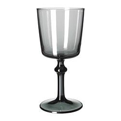 BEDÅRANDE red wine glass, grey Height: 19 cm Volume: 35 cl