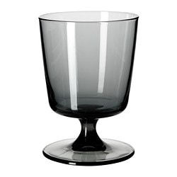 BEDÅRANDE white wine glass, grey Height: 12 cm Volume: 29 cl