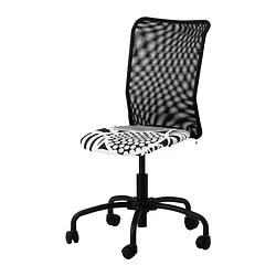 TORBJÖRN swivel chair, black Kvarnatorp black Tested for: 110 kg Depth: 60 cm Max. height: 96 cm