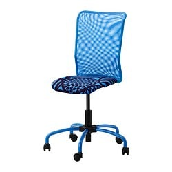 "TORBJÖRN swivel chair, blue Tested for: 242 lb 8 oz Depth: 23 5/8 "" Max. height: 41 3/8 "" Tested for: 110 kg Depth: 60 cm Max. height: 105 cm"