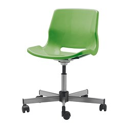 SNILLE swivel chair, green Tested for: 110 kg Width: 67 cm Depth: 67 cm