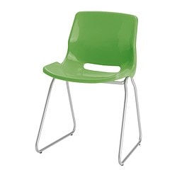 SNILLE visitor's chair, green Tested for: 110 kg Width: 55 cm Depth: 50 cm