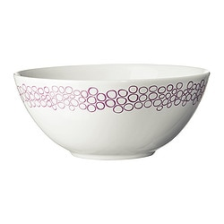 FÄRGRIK VÄLDIG bowl, dark lilac, white Diameter: 16 cm Height: 7 cm