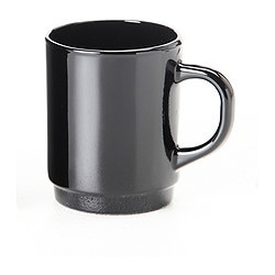 TECKEN mug, black Height: 9 cm Volume: 22 cl
