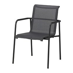 GARPEN chair with armrests, black Width: 58 cm Depth: 57 cm Height: 85 cm