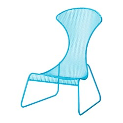 IKEA PS 2012 easy chair, blue Width: 75 cm Depth: 84 cm Height: 112 cm