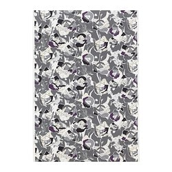 JANETTE fabric, grey, cabbage patterned Width: 150 cm Pattern repeat: 64 cm