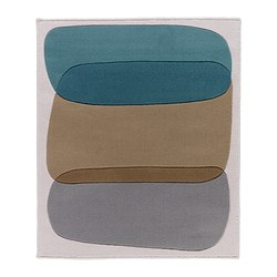 MALIN FIGUR rug, low pile, turquoise Length: 115 cm Width: 97 cm Surface density: 2530 g/m²