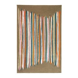 MALIN TRÅD rug, low pile, multicolour Length: 195 cm Width: 130 cm Surface density: 2530 g/m²