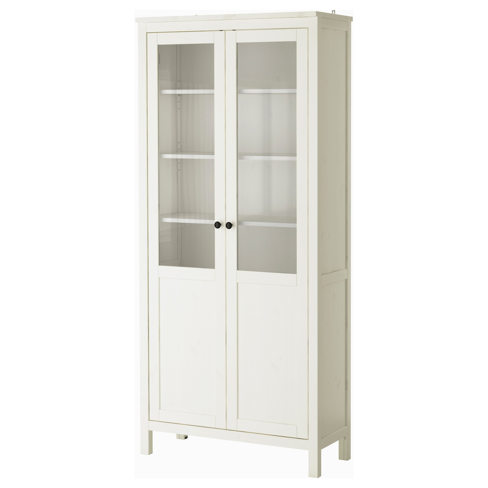 HEMNES Cabinet With Panel Glass Door White Stain Width 35 3 8