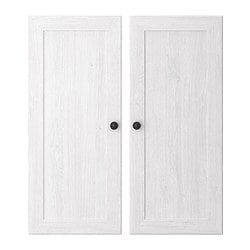 BORGSJÖ door, white Width: 37 cm Height: 86 cm Package quantity: 2 pieces