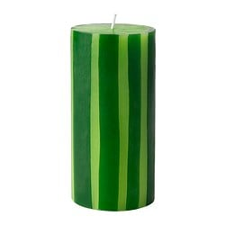 STRÄV unscented block candle, green Diameter: 7 cm Height: 14 cm Burning time: 45 hr