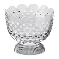 FÖRTJUST tealight holder, clear glass Diameter: 9.5 cm Height: 8 cm