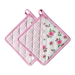EVALILL pot holder, rose Package quantity: 2 pieces