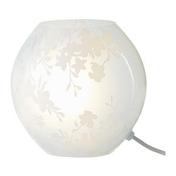 KNUBBIG table lamp, cherry-blossoms white Diameter: 18 cm Height: 18 cm Cord length: 2.0 m