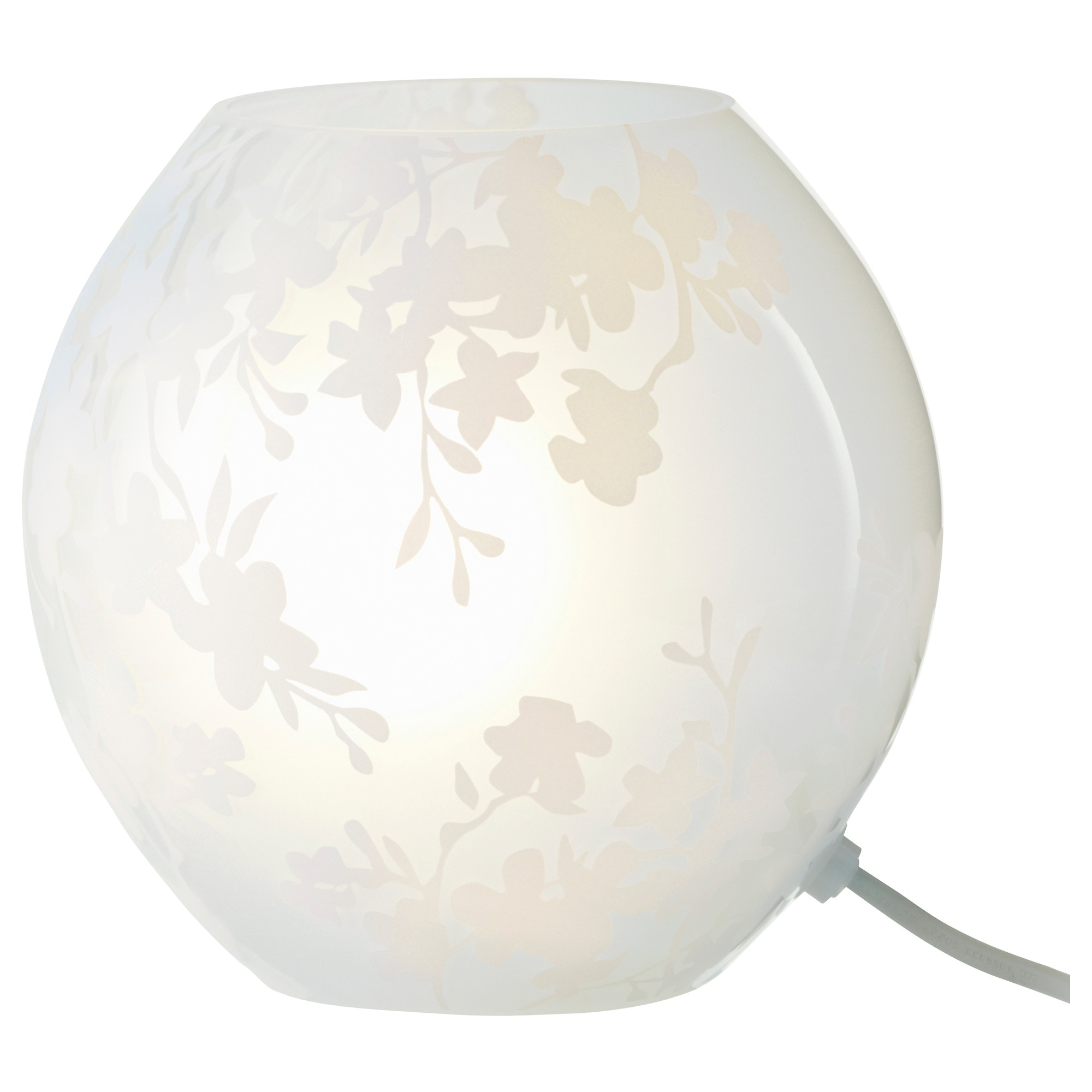 Table Lamp Ikea: KNUBBIG table lamp with LED bulb, cherry-blossoms white Height: 7