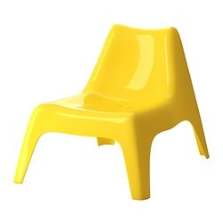 IKEA PS VÅGÖ easy chair, yellow Width: 74 cm Depth: 92 cm Height: 71 cm