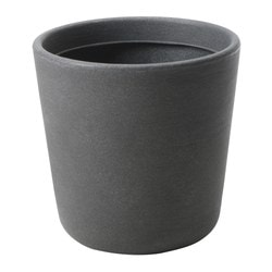 ÖSTLIG plant pot, indoor/outdoor dark gray