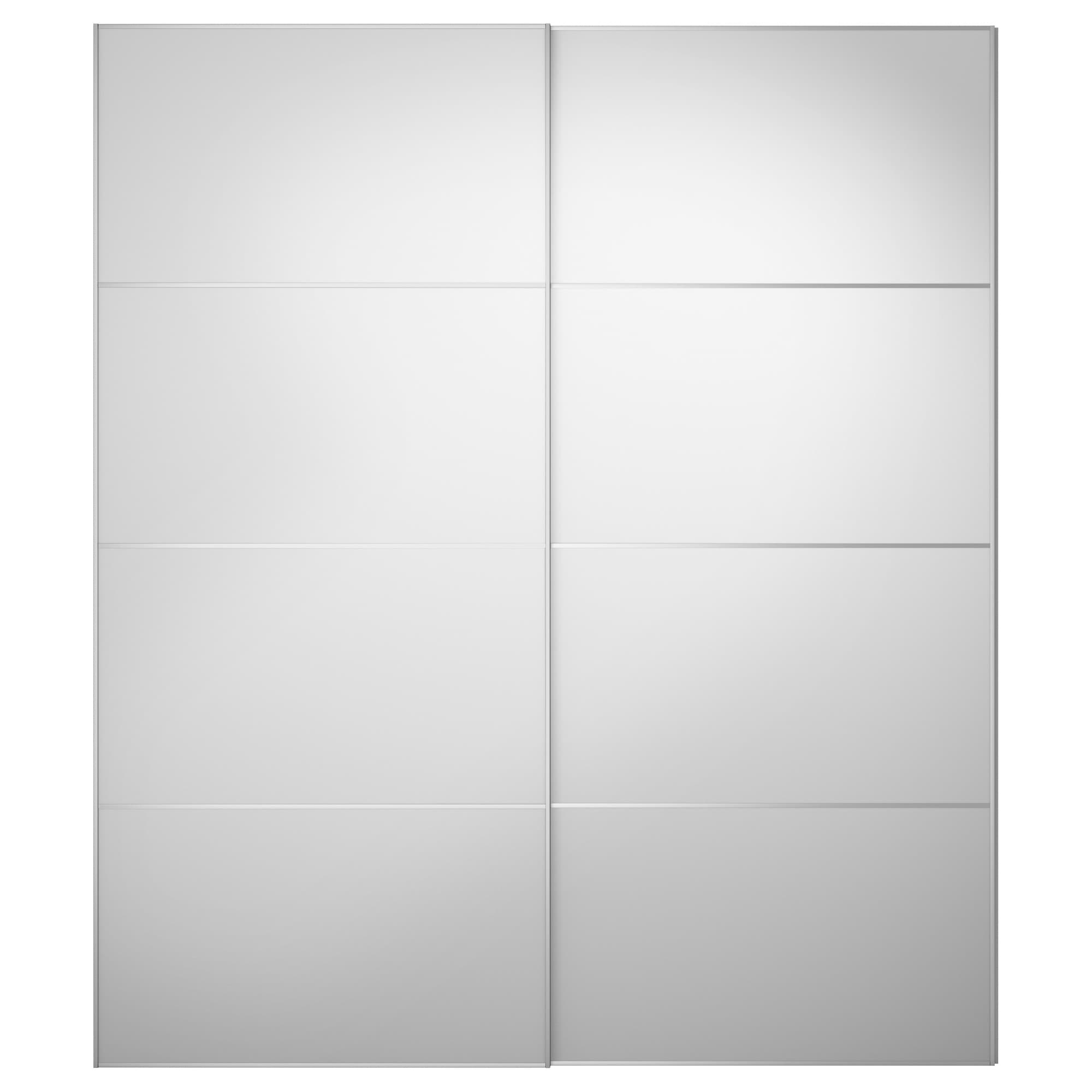 3 panel sliding closet doors - Auli Pair Of Sliding Doors Mirror Glass Width 78 3 4 Built