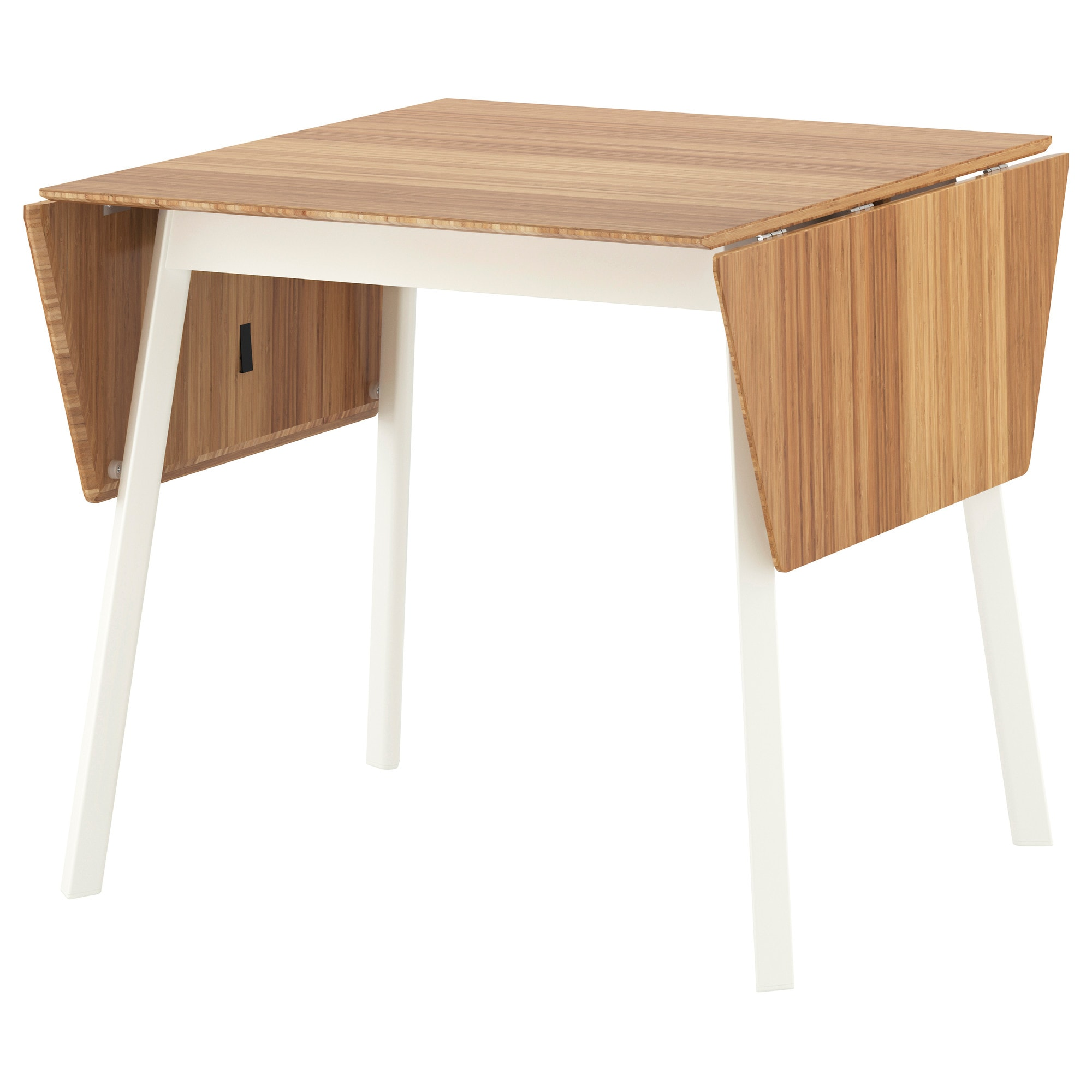 IKEA PS 2012 Drop Leaf Table, Bamboo, White Length: 41 3/