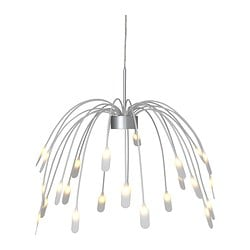 "HÄGGÅS LED pendant lamp Diameter: 24 "" Height: 20 "" Cord length: 63 "" Diameter: 60 cm Height: 50 cm Cord length: 160 cm"