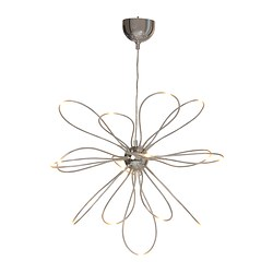 "ONSJÖ LED chandelier, chrome plated Diameter: 28 "" Height: 24 "" Cord length: 4 ' 7 "" Diameter: 70 cm Height: 60 cm Cord length: 1.4 m"