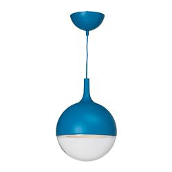 VÄSTER LED pendant lamp, blue Diameter: 30 cm Height: 40 cm Cord length: 1.2 m