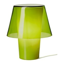 GAVIK table lamp, frosted glass, green Diameter: 18 cm Height: 21 cm Cord length: 185 cm