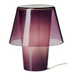 GAVIK table lamp, frosted glass, purple Diameter: 18 cm Height: 21 cm Cord length: 185 cm
