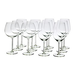 MARTORP 12-piece wine glass set