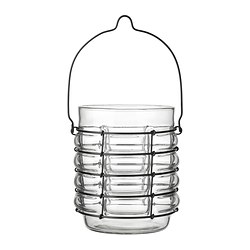 "BRÄCKE lantern, clear glass Diameter: 5 ½ "" Height: 6 ¼ "" Diameter: 14 cm Height: 16 cm"