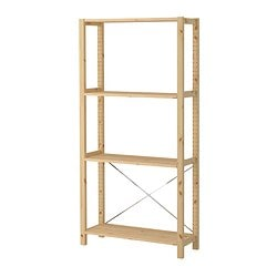 IVAR 1 section/shelves, pine Width: 89 cm Depth: 30 cm Height: 179 cm